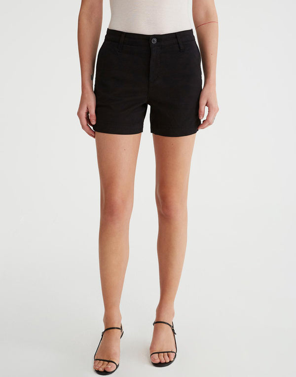 Black Caden Stretch Cotton Shorts