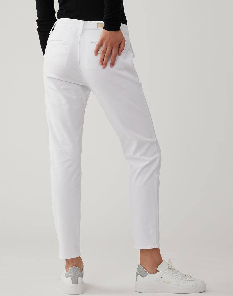 White Caden Trousers