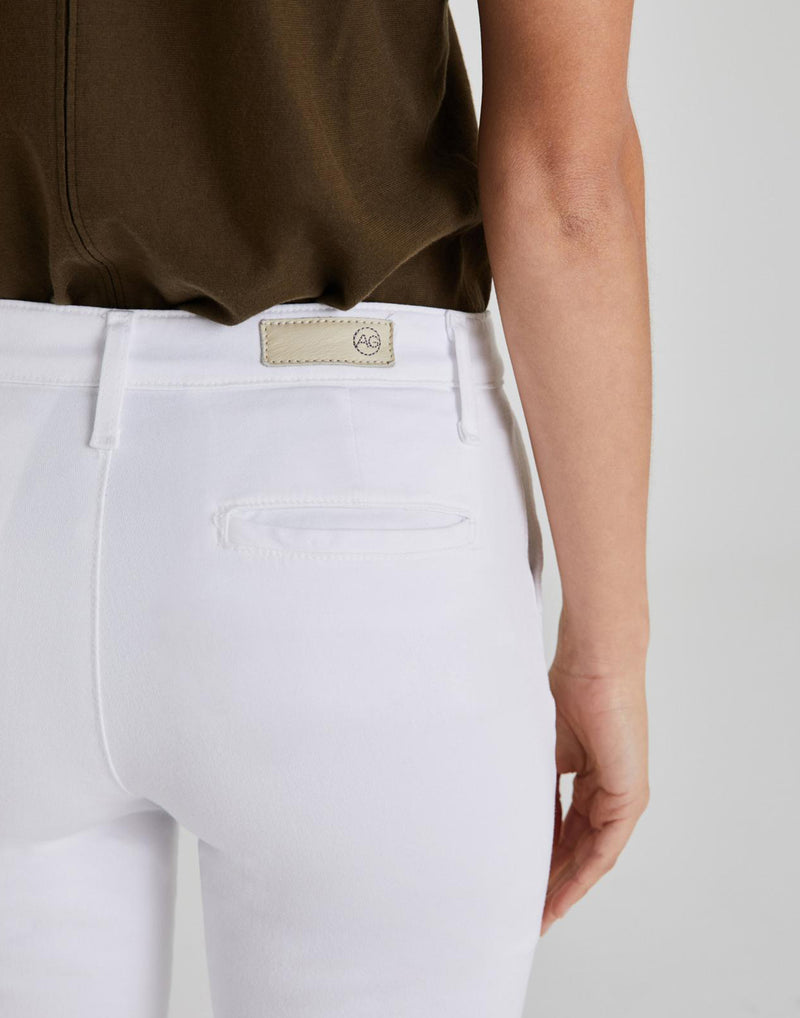 White Caden Chino Trousers