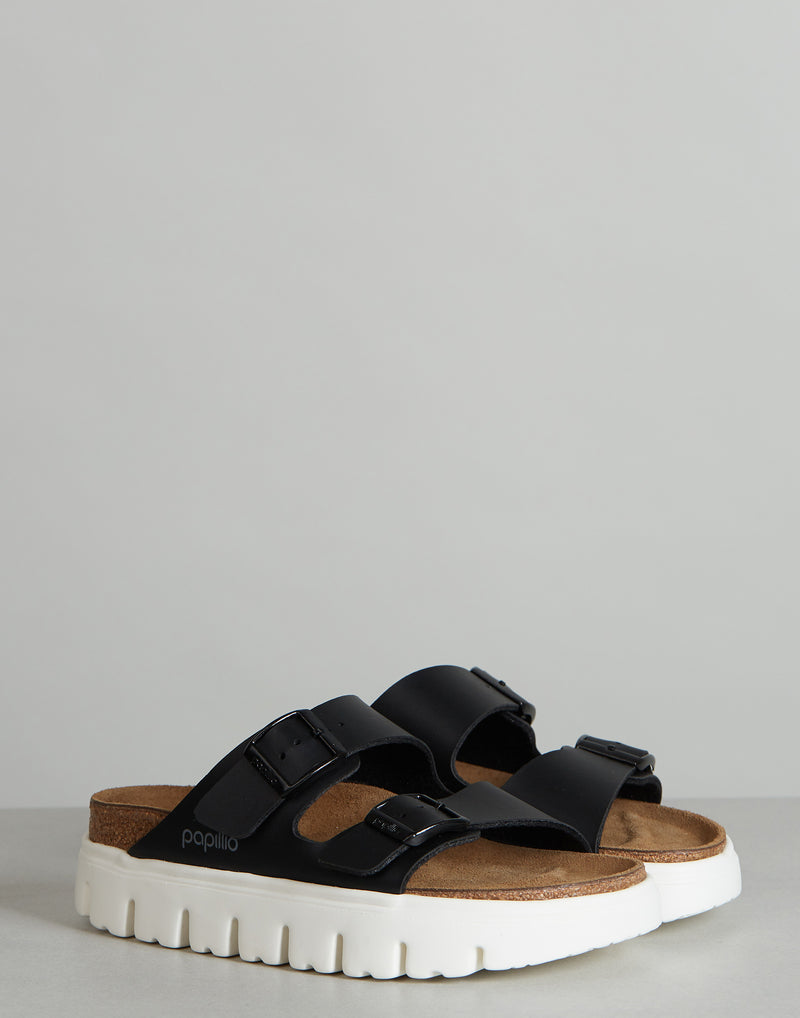 Black Birko-Flor Arizona Chunky Sandals