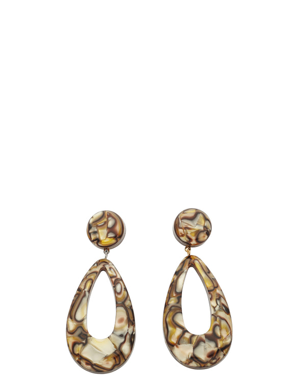 Beige Marble Clara Earrings