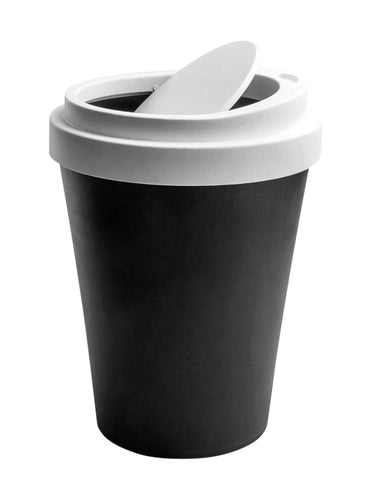 Black Coffee Waste Bin