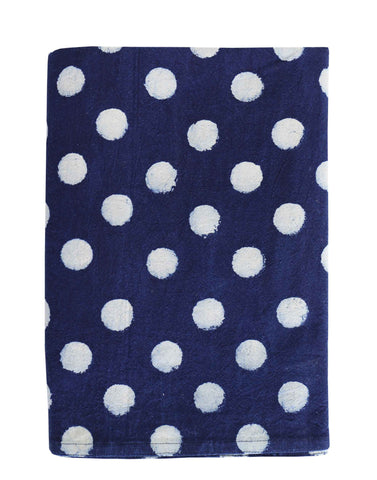 Dots Indigo Tablecloth 150cm x 300cm