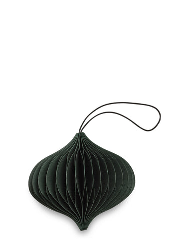 Forest Green Paper Onion Ornament