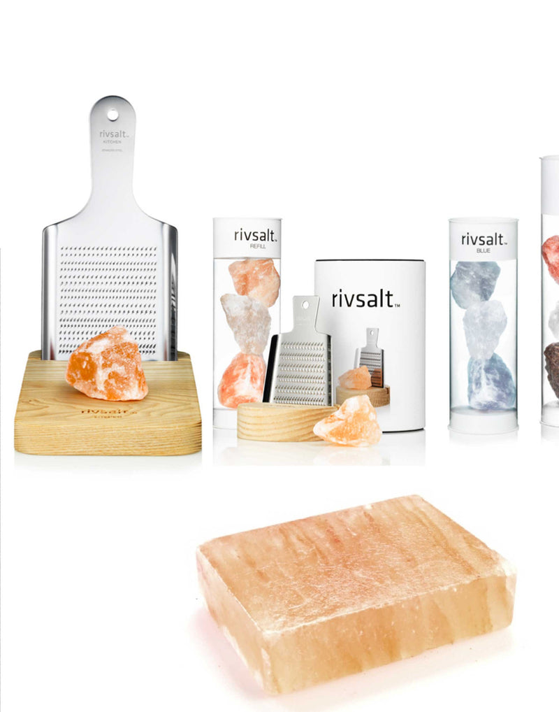 Large Kitchen Stainless Steel Grater with Rock Salt