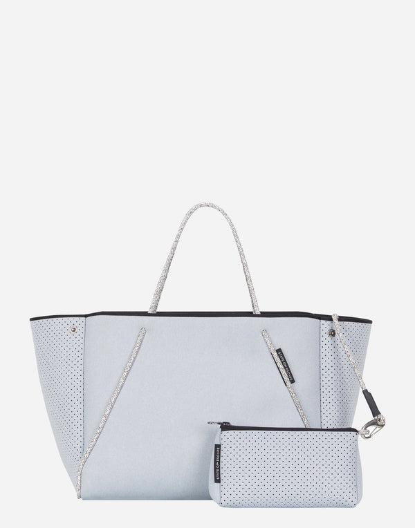 Washed Pale Grey Denim Guise Tote