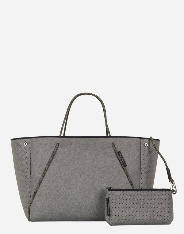 Washed Olive Denim Guise Tote