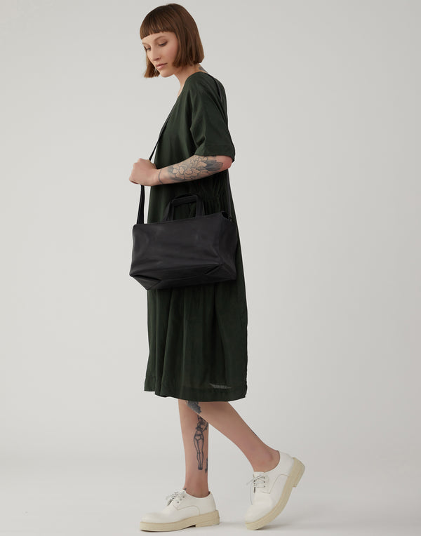 Black Leather Kawaii Standard Bag