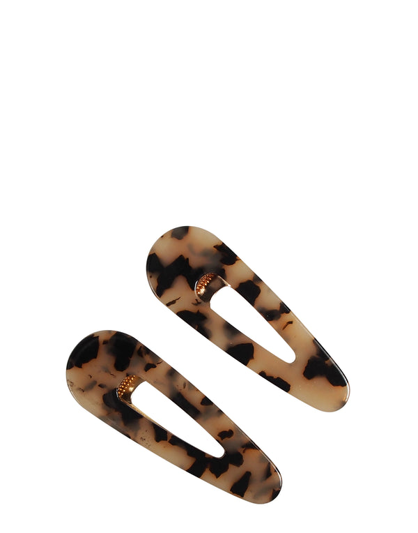 Tortoiseshell Kelly Clips Set of 2