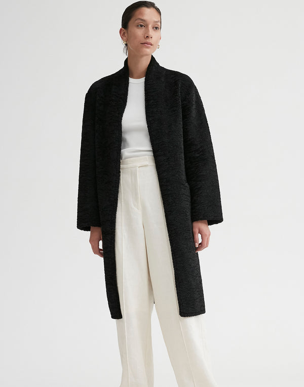 Black Lucy Faux-Shearling Coat