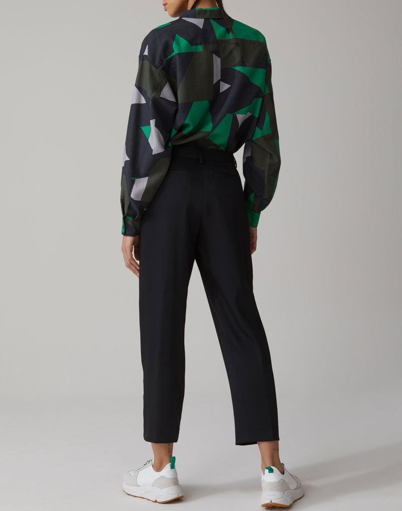 Black Tailored Ludwig Cropped Trousers