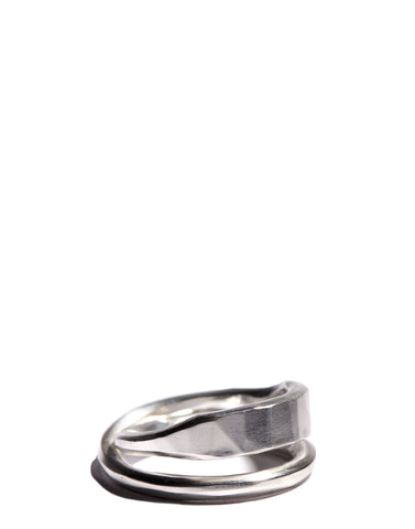 Silver Forged Cross Ring