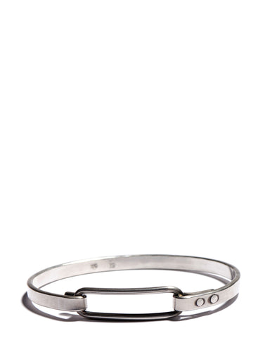 Silver Hammered Band Bracelet