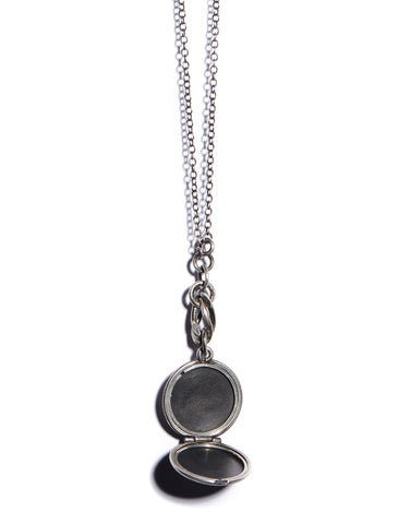 Silver Medallion Locket Necklace