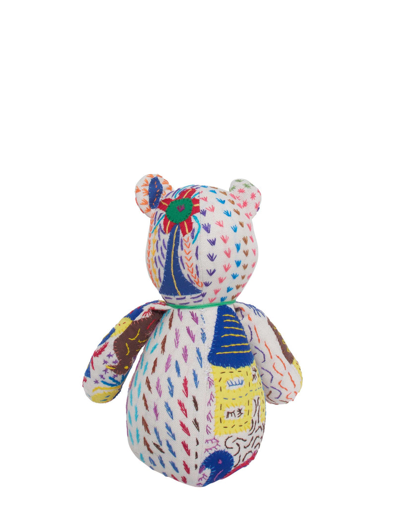 Maggie Embroidered Bear Small No.2 Ducks