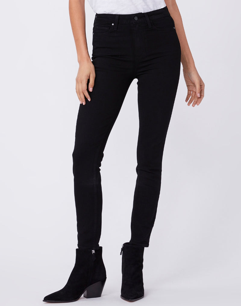 Black Margot Mid-Rise Crop Skinny Jeans