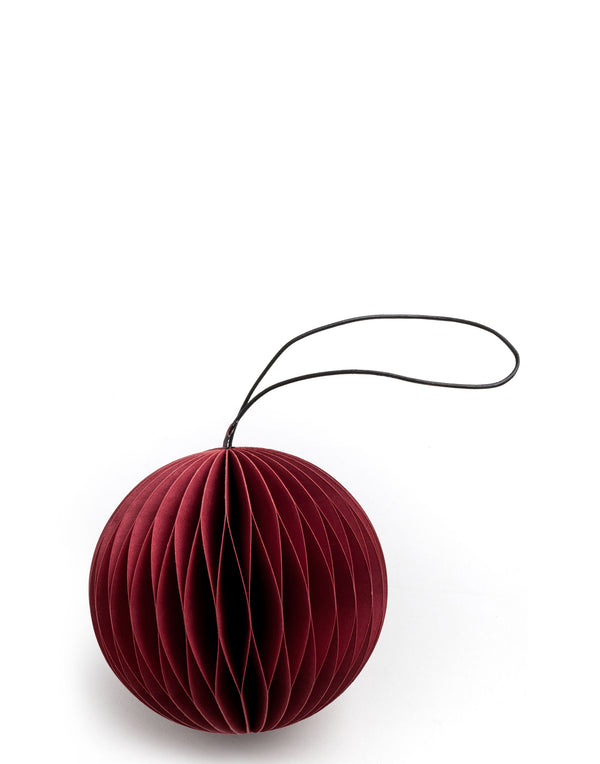 Red Paper Scoop Ornament