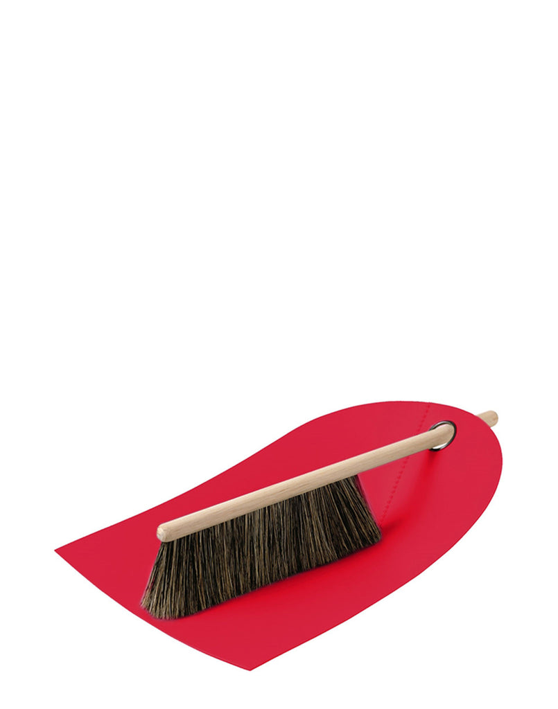 Red Dustpan and Brush