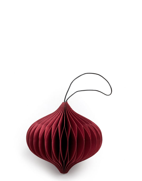 Red Paper Onion Ornament