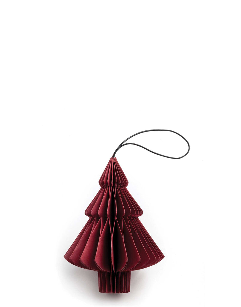 Red Paper Tree Ornament