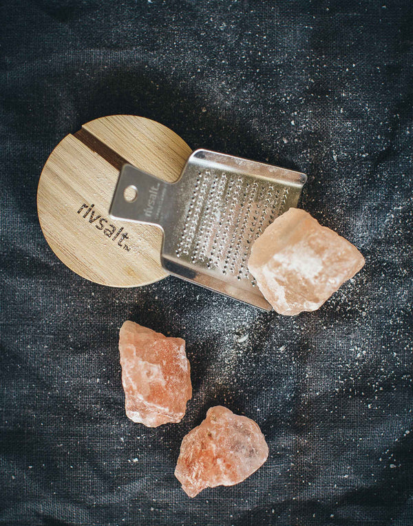 Original Stainless Steel Grater with Rock Salt