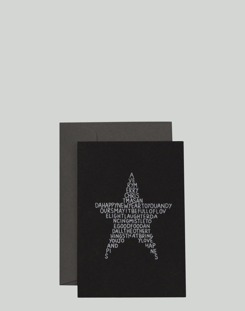 The Black Star Greeting Card