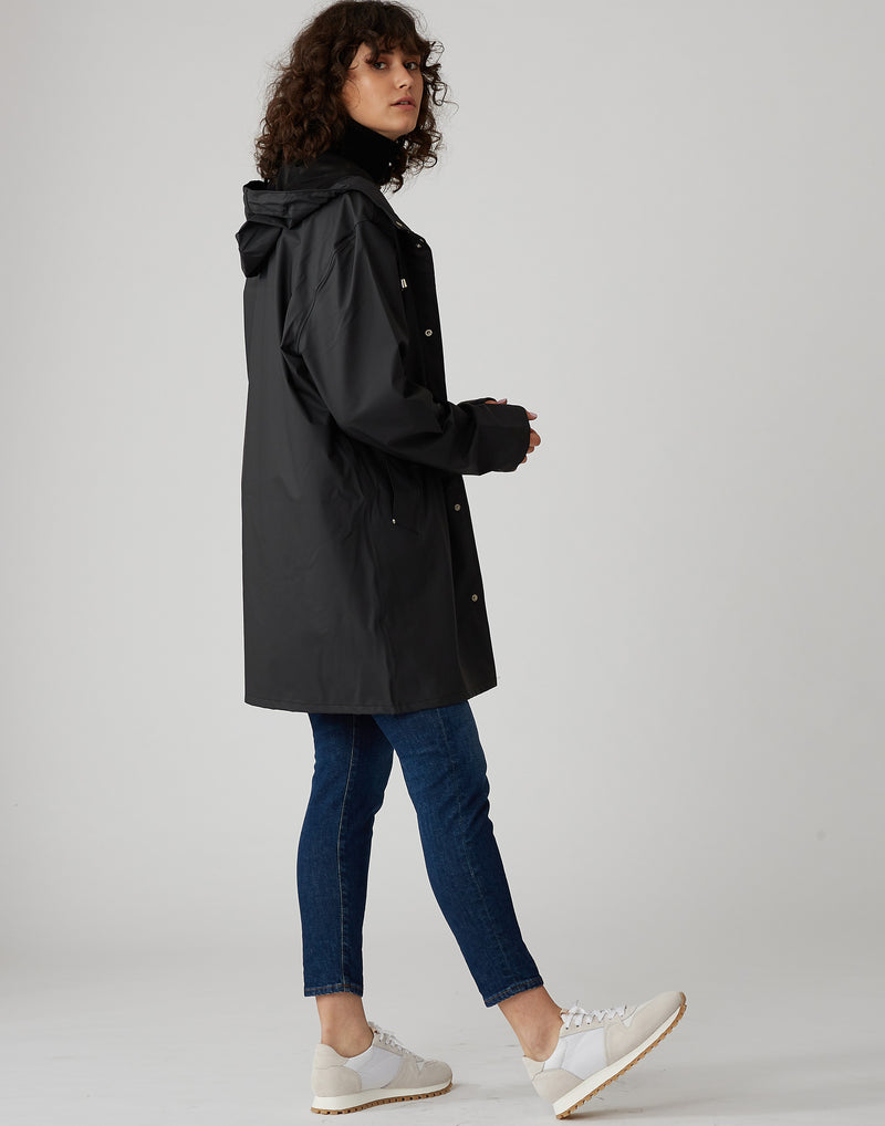 Black Lightweight Stockholm Raincoat