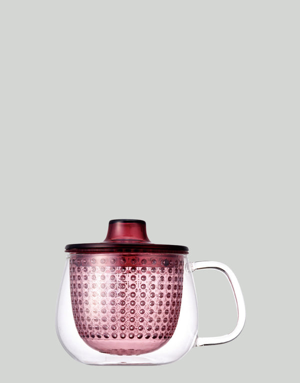 Wine Red Unimug Tea Brewer 350ml
