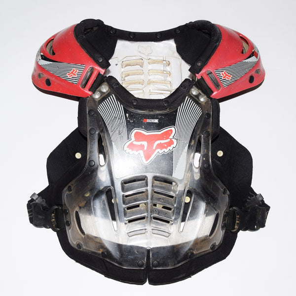 Ezra Lusk's Autographed Race Worn 2001 Fox Racing Chest Protector