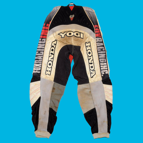 Ezra Lusk's Autographed Race Worn 2001 Fox Racing Pants
