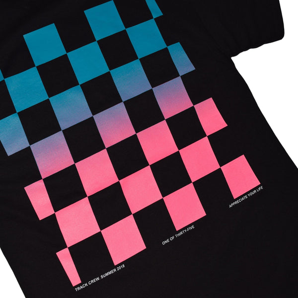 GRADIENT T-SHIRT - TEAL / PINK