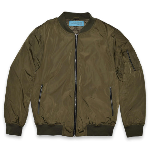 quilted bomber jacket - olive
