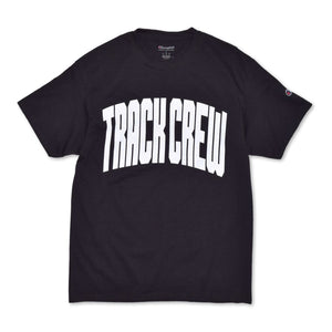 TRACK CREW X CHAMPION T-SHIRT - BLACK