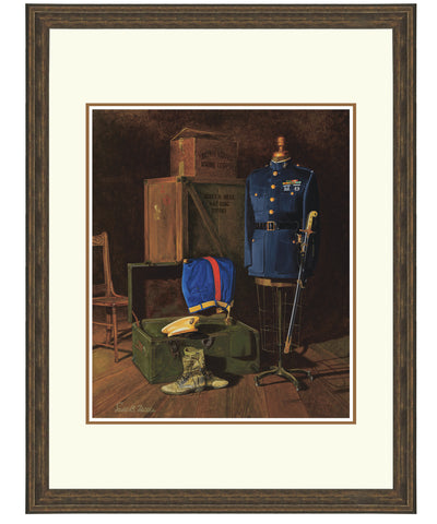 """Marine Corps Memories"" Personalized Officer Marine Corps Artwork"