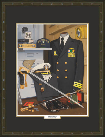 """Anchors Aweigh"" Personalized Navy Art"
