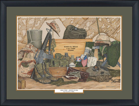 """Desert Storm"" Personalized Military Campaign Art"
