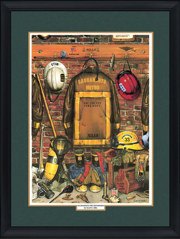 """Heroes"" Personalized Firefighter Art"