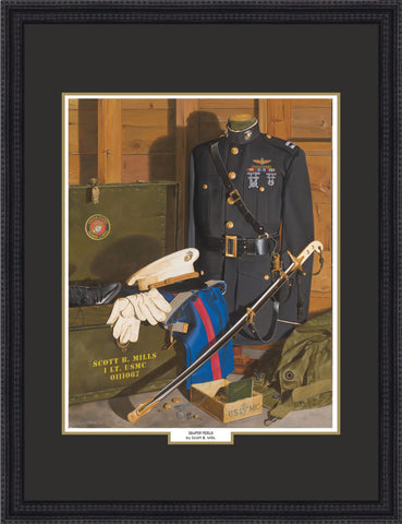 """Semper Fidelis"" Personalized Officer Marine Corps Art"
