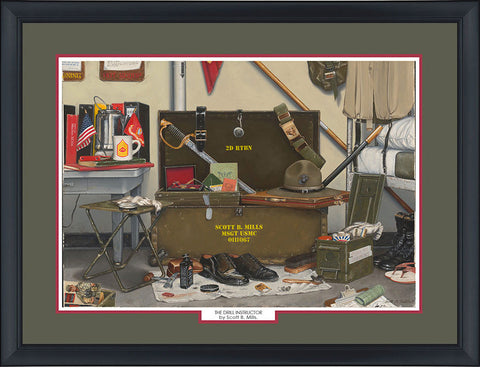 """The Drill Instructor"" Personalized Marine Corps Art"