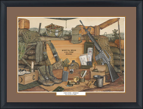 """I Was There-Vietnam"" Personalized Military Campaign Art"