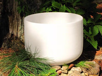 "12"" 7 Chakra Quartz Frosted Crystal Singing Bowl - Save 35% - 6 Lynx - Boho Accessories"