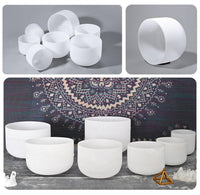 Essential Chakra Set Notes A, F and C - 99.993% Pure Quartz Crystal Singing Bowls