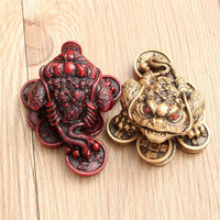 Feng Shui Three Legged Money Frog - Fortune Toad - Home/Office Luck Ornament - Save 70% - 6 Lynx - Boho Accessories