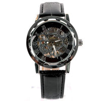 Classic Men's Gold Skeleton Mechanical Wrist Watch by Lynx Winner™ - 6 Lynx - Boho Accessories