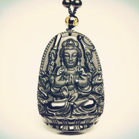 Best Selling Natural Obsidian Stone Buddha Amulet - 6 Lynx - Boho Accessories