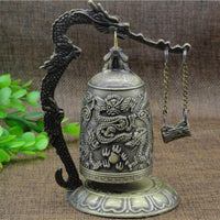 Vintage Style Dragon Bell Hang Decoration Buddhist Bell Ornament Good Luck Bell Bronze Lock Monk Home Office Decoration Artwork - 6 Lynx - Boho Accessories