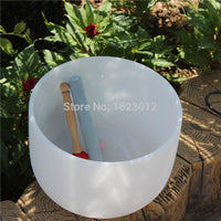 "10"" C/D/E/F/G/A/B 432Hz Frosted Crystal Singing Bowl - 6 Lynx - Boho Accessories"