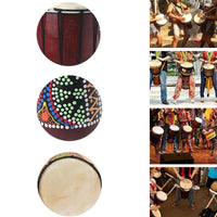 Djembe Drummer Percussion Wooden African Style Hand Drum Classic Painting Gift - 6 Lynx - Boho Accessories