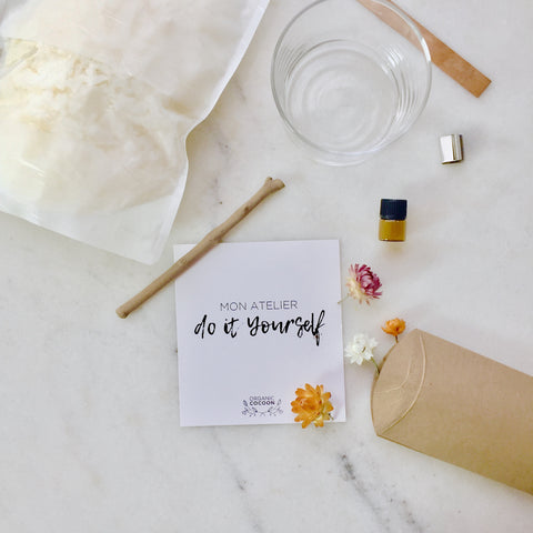 Mon Atelier Do It Yourself - Organic Cocoon - Bougie Vegan - Bougie Bio - Made In France - Bougie Fleurie - Candle Flower - Vegan Candle - Atelier DIY - Do It Yourself
