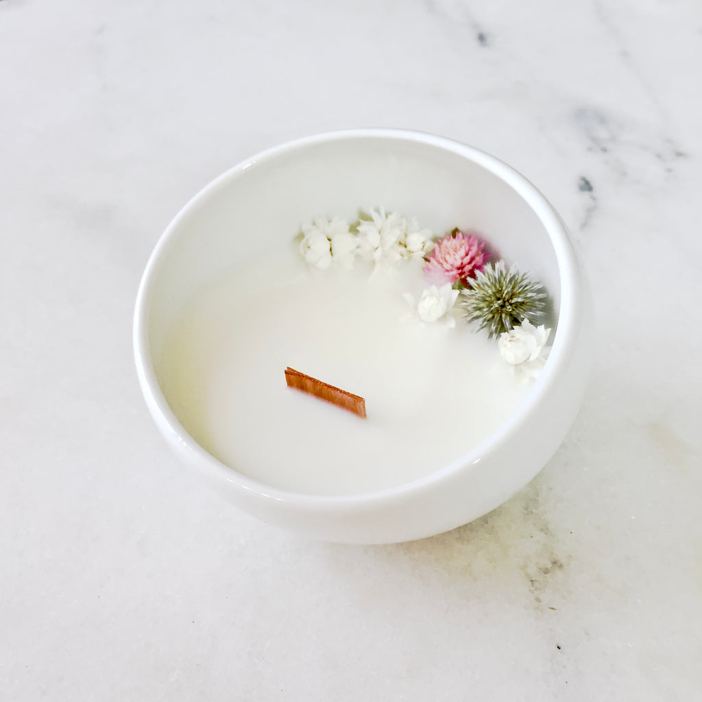 jasmine flower candle organic cocoon hygge lagom kinfolk bougie au jasmin made in paris